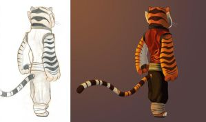 Tigress - Back View - start to finish by Graystripe64