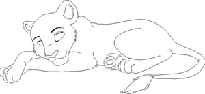Laying Down Line art by Magicionary