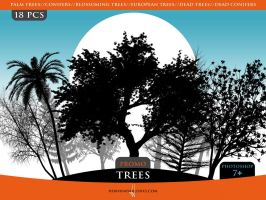 Trees Promo Brush Pack by Horhew