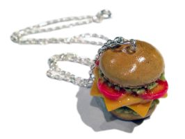 Tomato Cheeseburger Necklace/Charm by delectablycharming