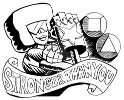 Garnet Stronger than You Line Art by rawjawbone