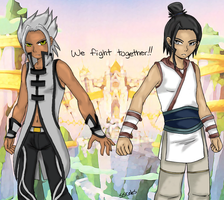 Young Eraqus and Xehanort by Sorfiwien