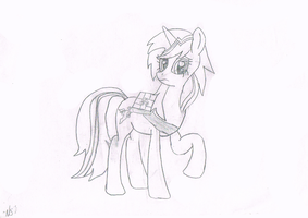 Velvet Remedy (Uncolored Sketch) by Amethyst-Star-MLP