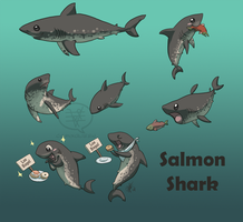 SHARK WEEK 2014 #3- Salmon by comixqueen