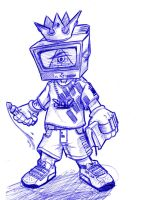 tv boy - ballpen by MrShanTwo