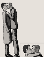 Destiel kiss by shipleyweasley