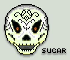 Pixel Sugar Skull by Lycanstrife