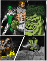 Hulk comic page 6 color by hiasi