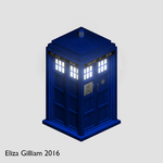 Isometric Doctor Who Tardis (512px x 512px) by omgwtflols