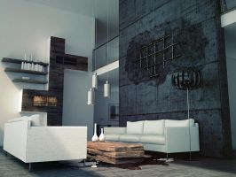 livingroom and broken concrete by opengraphics