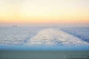 sunrise on the sea by yiea