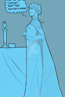 Elsa Sketch by Kreative-Confusion