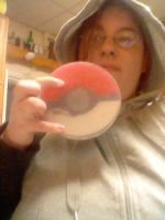 Pokeball soap-Showing the size by Sabriel-chan