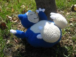 Snorlax chilling under a tree by WolfandSquid