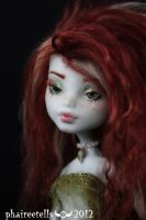 Monster high repaint Frankie frecklesgreen Mermaid by phairee004