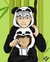 Hijack Panda Hoodies by Laven96