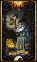 9 The Hermit - Tarot Card by Cupcakes-lover