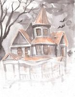 Drawlloween 7: Haunted House by papilia
