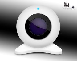 White webcam by juztin-le