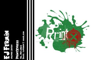 PrintXpress business card by ExtremeJuvenile