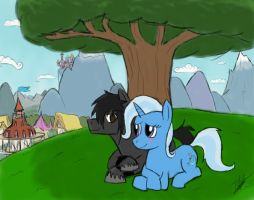 Trixie y Dark FLash by ToMaz777