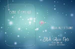 Slide Glass Note XWidget by tutorialeslali