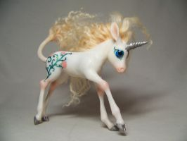 """Missy""  ooak unicorn pony by AmandaKathryn"