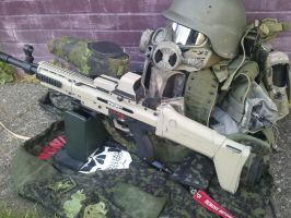 Tippmann X7 Contessa SCAR LMG Loadout by Travis-English
