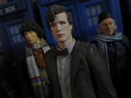 4th, 11th and 1st Doctors by Police-Box-Traveler