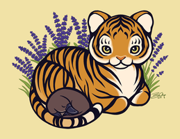 Loafing Tiger, Hidden Platypus by Sobii