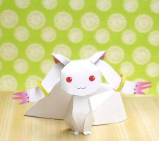Kyubey Papercraft by xDutchy