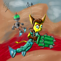 Ratchet and clank by SEBASTIEN11