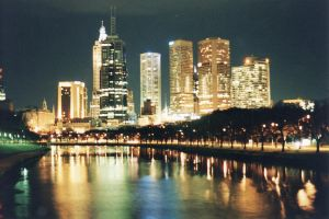 Melbourne City Skyline Orig by Braunaudio