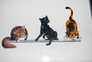 Felines with Flute by crawdadEmily