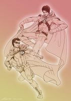 DC : Red Robin and Robin(Damian) by noei1984