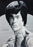 Bruce Lee by Pltnm06Ghost