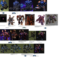 Heroes of the Storm: Evolution of Tychus by DefilerRulez91