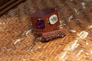 Steampunk Bracelet-Ring #2 by rebex1213