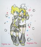 Kagamine Rin and Len by quynhanhnguyendac
