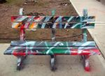 Seat painted with free design by Johnny-Aza