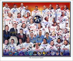 The Astronauts of Apollo by markkarvon