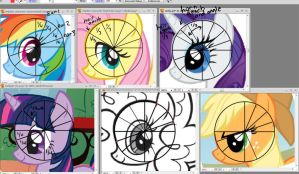 MLP FiM G4 Head Measurements by Nimaru