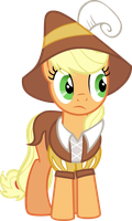 Applejack Secretary by M99moron