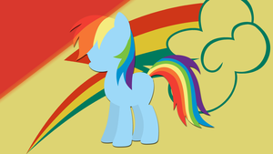 Rainbow Dash Silhouette Wallpaper by RDbrony16