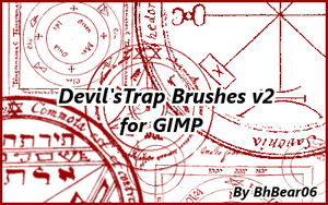 Devil's Trap Brushes v.2 by BhBear06