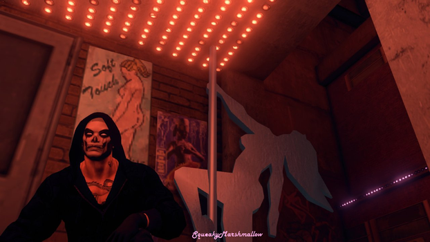 Saints Row 3 Outside Strip Club at Night by SqueakyMarshmallow