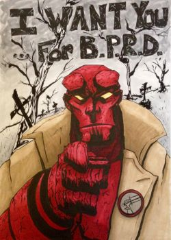 Hellboy - I Want You... by Horological-Rex