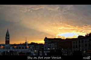 sky on fire over venice by archonGX