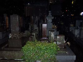 Haunted Japanese Cemetary 1 by Frankencow