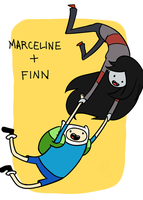 Marceline and Finn by sadnobody